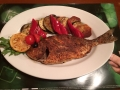 Grilled dorade with vegetables